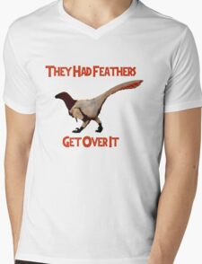Feathers - Get Over It Mens V-Neck T-Shirt