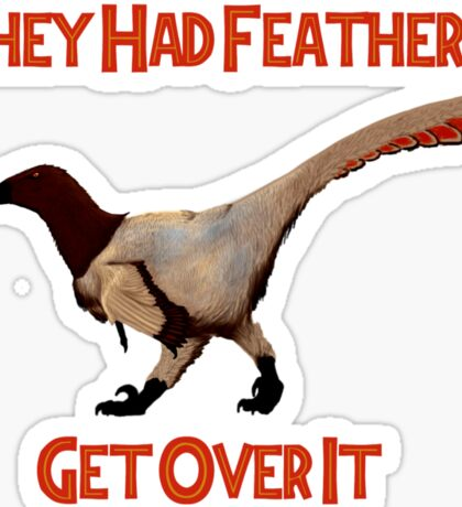 Feathers - Get Over It Sticker