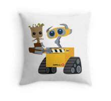 Wall-E and Groot Throw Pillow