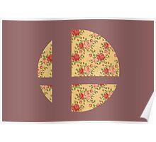 Super Smash Bros Floral Poster