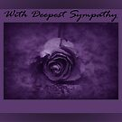 With Deepest Sympathy - Rose - Purple 1 by AngieM