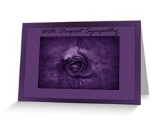 With Deepest Sympathy - Rose - Purple 1 Greeting Card