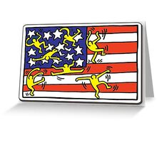 Keith Haring USA Greeting Card