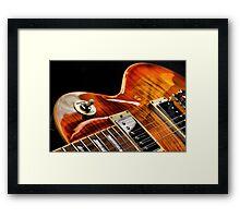 Guitar Icon : '59 Flametop Les Paul / HDR Framed Print