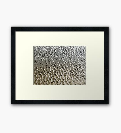 The beach - shallow depression Framed Print