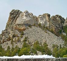 Snow on the ledge ~ MT Rushmore by Diane Trummer Sullivan