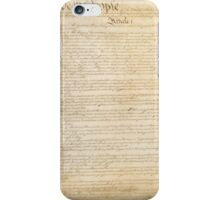 Page 1 of the United States Constitution iPhone Case/Skin