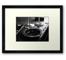 Black & White Ashtray Framed Print