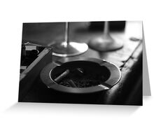 Black & White Ashtray Greeting Card