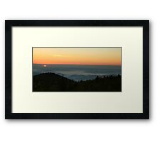 Sunrise in Pisgah Framed Print
