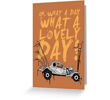 Mad Max Greeting Card