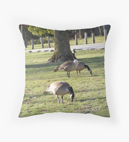 We Three Geese Throw Pillow