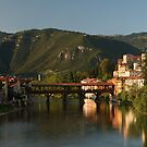 Enterring Bassano del Grappa, Italy by middleofaplace