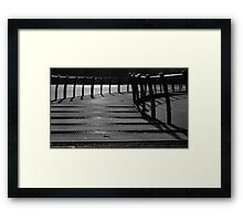 Floating Bridge 3 Framed Print