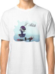 L'Artiste Cute Big Eyed Painter Girl Classic T-Shirt