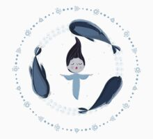 Song of the Sea - Selkie and seals - White version Kids Clothes