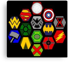 Marvel DC Comic Superhero Crossover Megaverse Canvas Print
