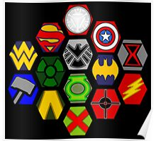 Marvel DC Comic Superhero Crossover Megaverse Poster