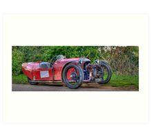Ye Olde 3 Wheeled Car Art Print