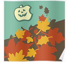 Autumn jack-o-lantern Poster