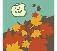 Autumn jack-o-lantern Photographic Print