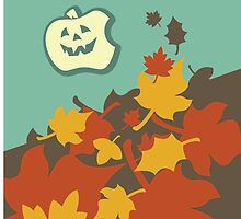 Autumn jack-o-lantern by Boogiemonst
