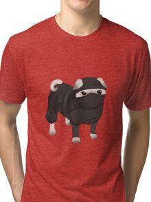 Ninja Pug Tri-blend T-Shirt