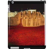 Poppies at the Tower of London -  Night Panorama iPad Case/Skin