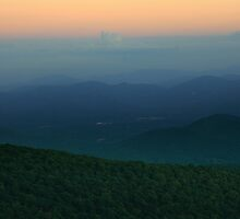 Sunset over Black Mountain by middleofaplace