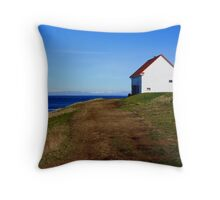 building on a hill East Point  Throw Pillow