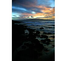 Makena Beach Sunset Photographic Print