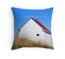 building on a hill Throw Pillow