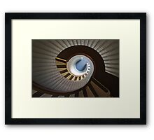 Old Point Loma Lighthouse Staircase Framed Print