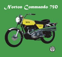 Norton Commando 750 by 45thAveArtCo