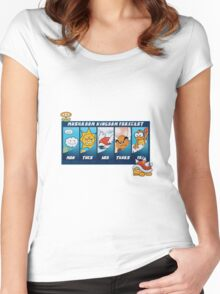 Mushroom Kingdom Forecast Women's Fitted Scoop T-Shirt