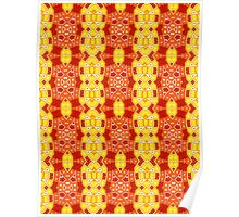 Red, Orange and Yellow Abstract Design Pattern Poster