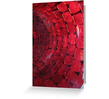Red glass vase Greeting Card