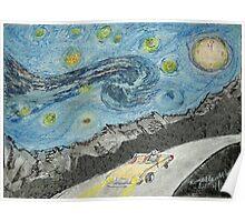 Under a Van Gogh Sky Poster