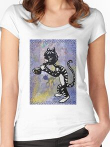 Cool Jazz Alley Cat Women's Fitted Scoop T-Shirt