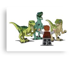 LEGO  Velociraptor Training Canvas Print