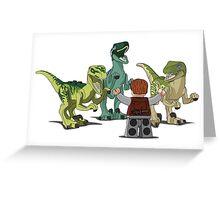 LEGO  Velociraptor Training Greeting Card