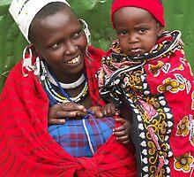 African Women and child by Maria Kumlander