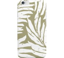 Kahanu Garden Hawaiian Palm Leaves - Khaki iPhone Case/Skin
