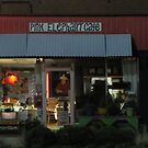 Pink Elephant Cafe  at night by carol selchert