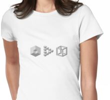 Improbable cubes Womens Fitted T-Shirt