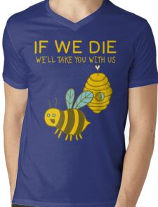 Save The Bees T Shirt Mens V-Neck T-Shirt