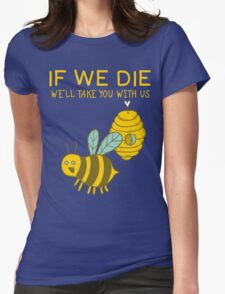 Save The Bees T Shirt Womens Fitted T-Shirt
