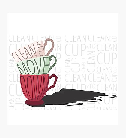 Clean Cup Photographic Print