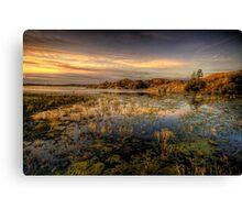 Long Slow Sunset Canvas Print