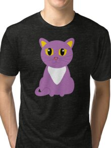 Only One Purple Kitty Tri-blend T-Shirt